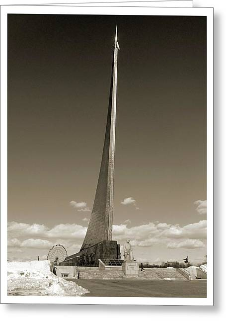 Monument To The Conquerors Of Space Greeting Card by Detlev Van Ravenswaay