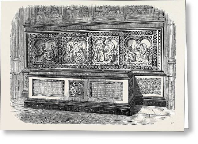 Monument To The Duchess Of Gloucester In St Greeting Card