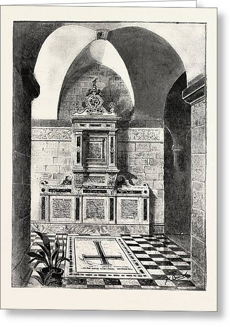 Monument To The Late Sir Bartle Frere Erected In The Crypt Greeting Card by English School