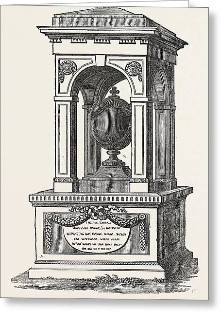 Monument To The Memory Of Sir Hans Sloane, The Founder Greeting Card by English School
