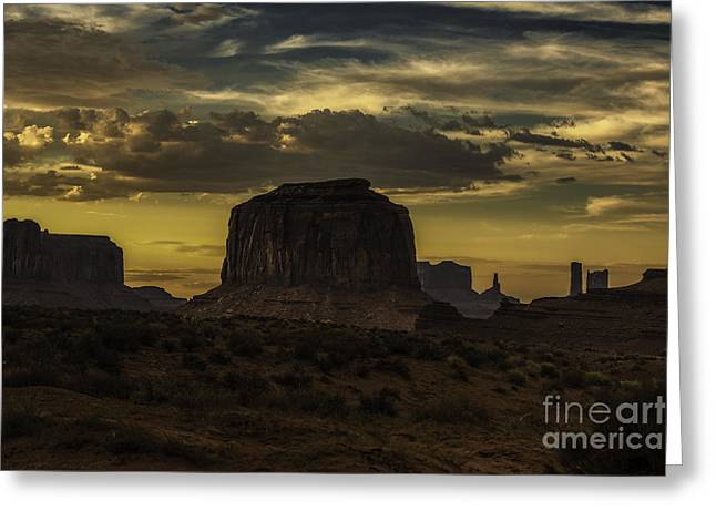 Monument Valley 4 Greeting Card by Richard Mason