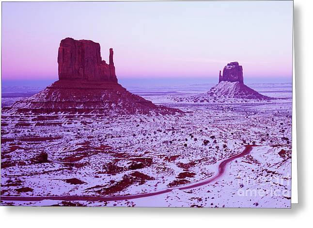 Monument Valley At New Year's Day Greeting Card