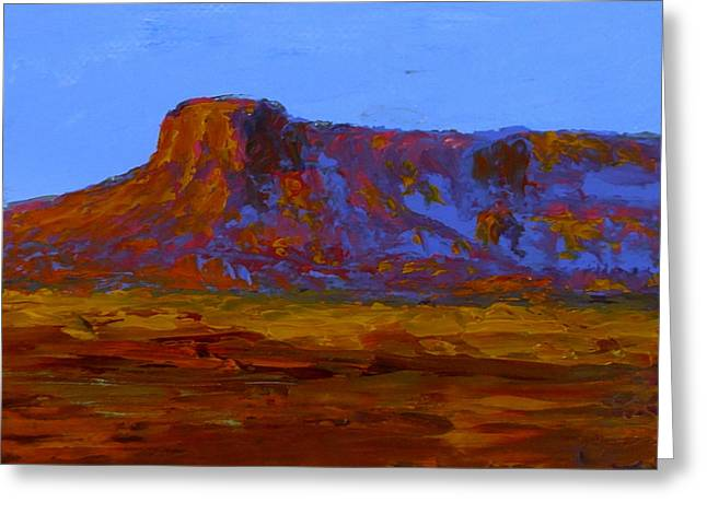 Monument Valley At Sunset Greeting Card by Fred Wilson