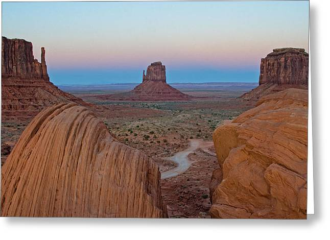 Monument Valley Evening Greeting Card