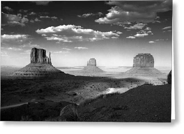 Monument Valley In Black And White Greeting Card