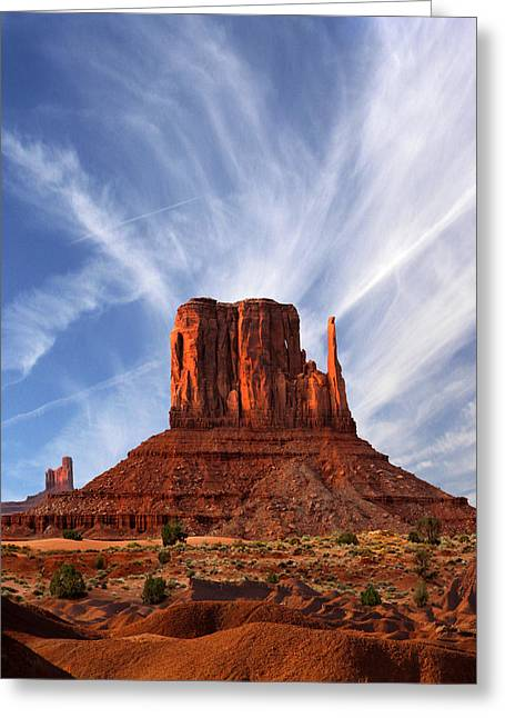 Monument Valley - Left Mitten 2 Greeting Card by Mike McGlothlen