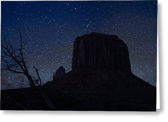 Monument Valley Starlight Greeting Card by Steve Gadomski