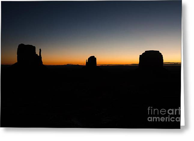 Greeting Card featuring the photograph Monument Valley Sunrise by Jeff Kolker