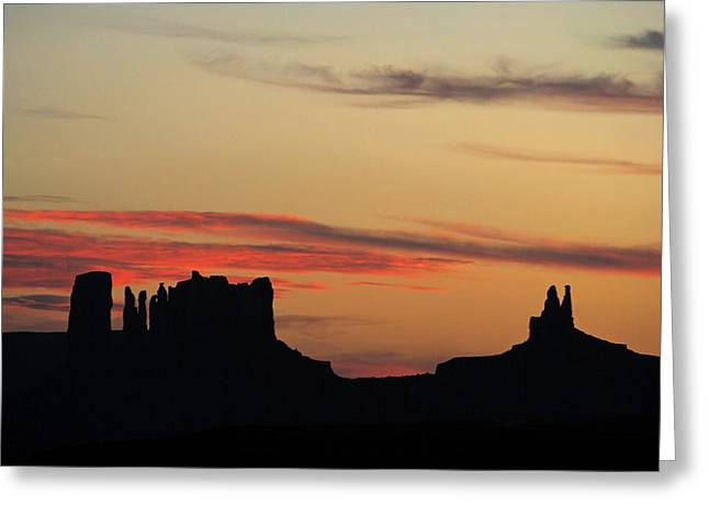 Monument Valley Sunset 1 Greeting Card
