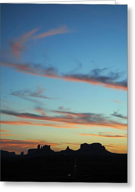 Monument Valley Sunset 3 Greeting Card