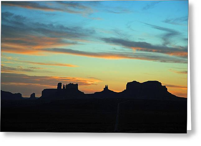 Greeting Card featuring the photograph Monument Valley Sunset 4  by Jeff Brunton