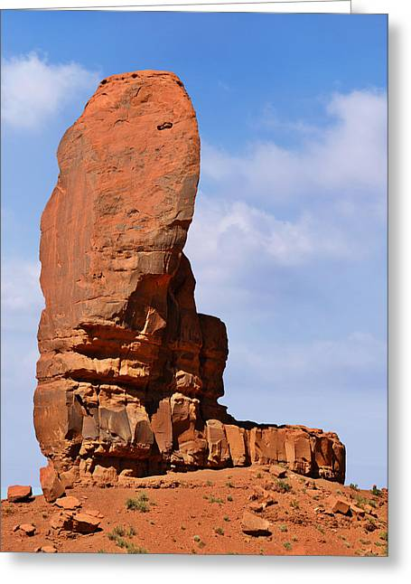 Monument Valley - The Thumb Greeting Card by Christine Till