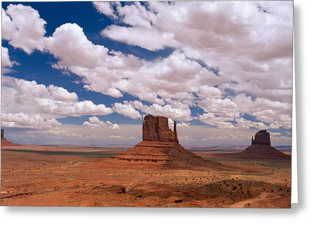 Monument Valley Tribal Park Az Greeting Card by Panoramic Images