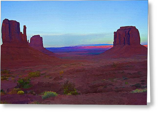 Monument Valley Vista 3 Greeting Card by Steve Ohlsen