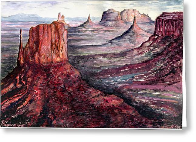 Monument Valley Arizona - Landscape Art Painting Greeting Card