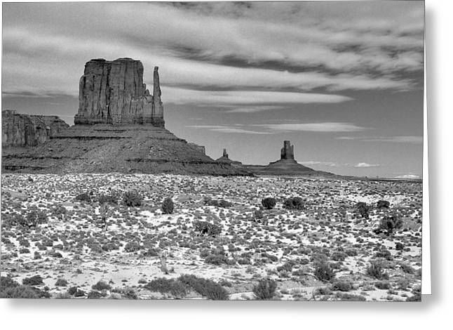 Monument Valley Winter Greeting Card by Mel Felix