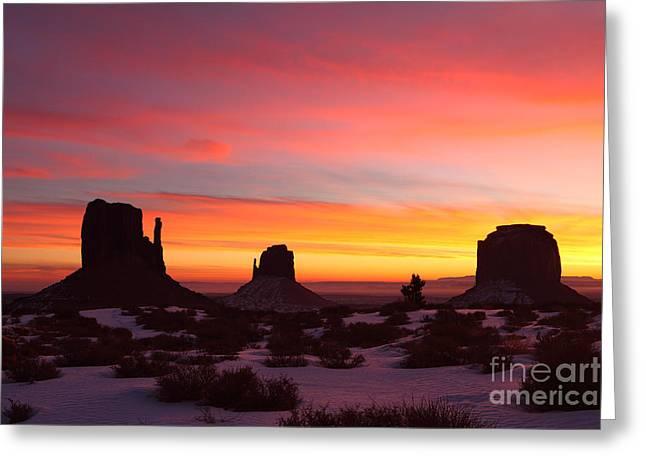 Monumental Sunrise Greeting Card