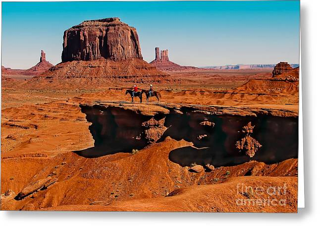 Monumental Valley View Greeting Card by Robert Bales