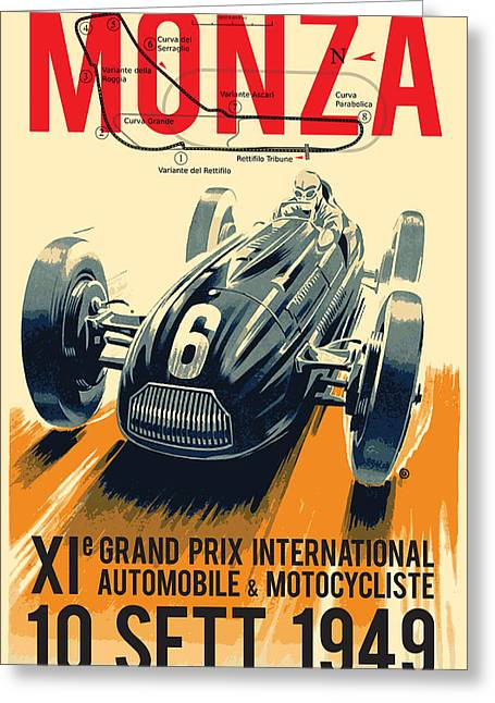 Monza Grand Prix Greeting Card