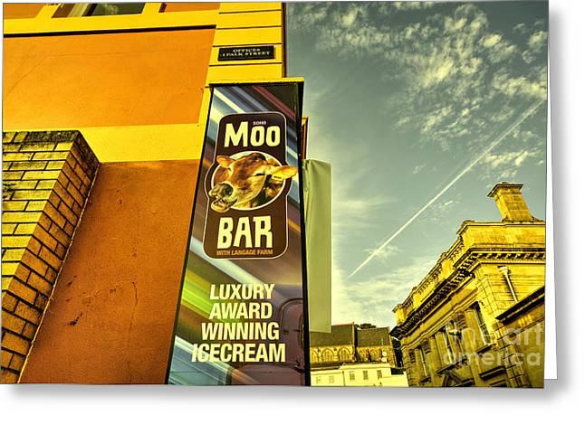 Moo Bar  Greeting Card by Rob Hawkins