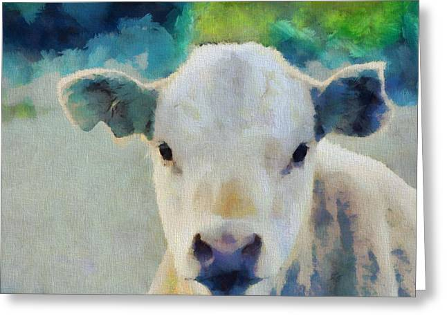 Moo Greeting Card by Dan Sproul