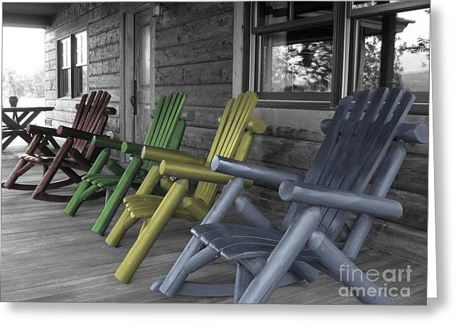 Mood Seating Greeting Card by Janice Westerberg