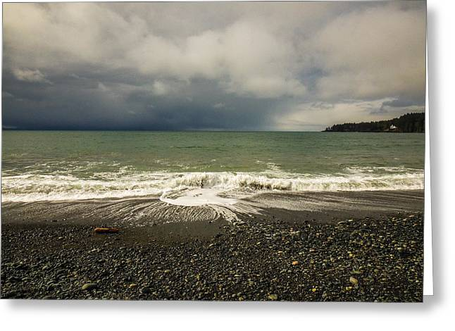 Moody Swirl French Beach Greeting Card
