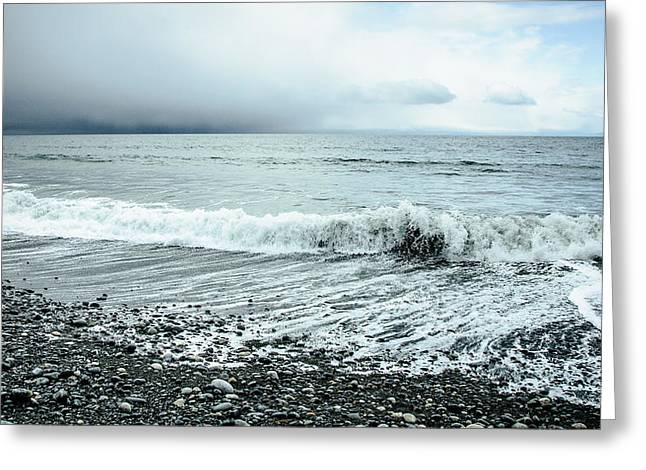 Moody Shoreline French Beach Greeting Card
