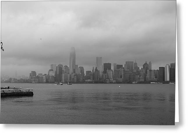 Moody Manhattan Greeting Card