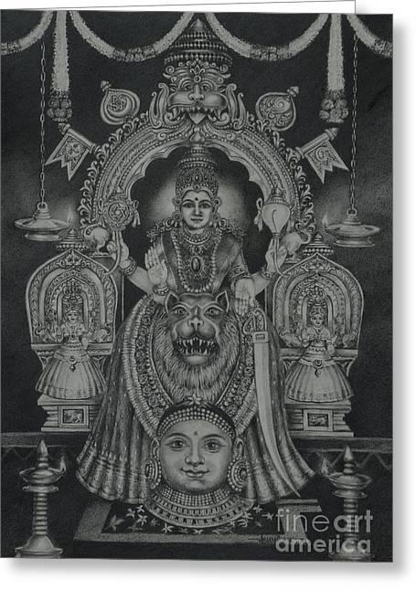 Mookambika Devi Greeting Card
