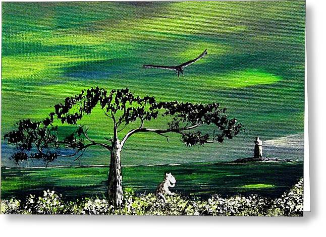 Moomintroll And Lighthouse Greeting Card