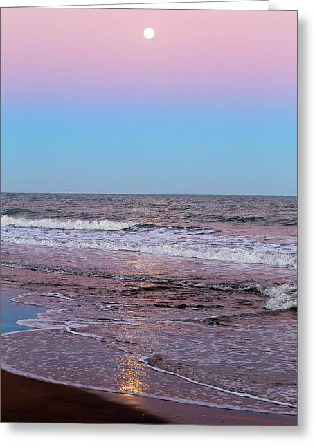 Moon And Belt Of Venus Effect Greeting Card by Luis Argerich