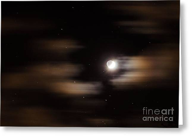 Greeting Card featuring the photograph Moon And Stars II by Judy Wolinsky