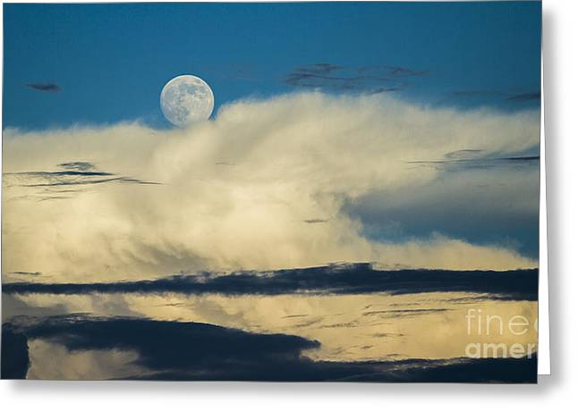 Moon And Thunderclouds Greeting Card