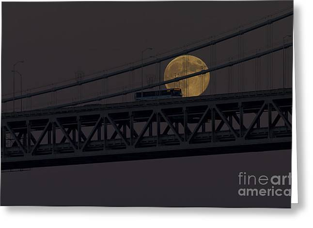 Greeting Card featuring the photograph Moon Bridge Bus by Kate Brown