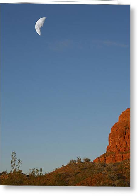Moon Cliff Greeting Card