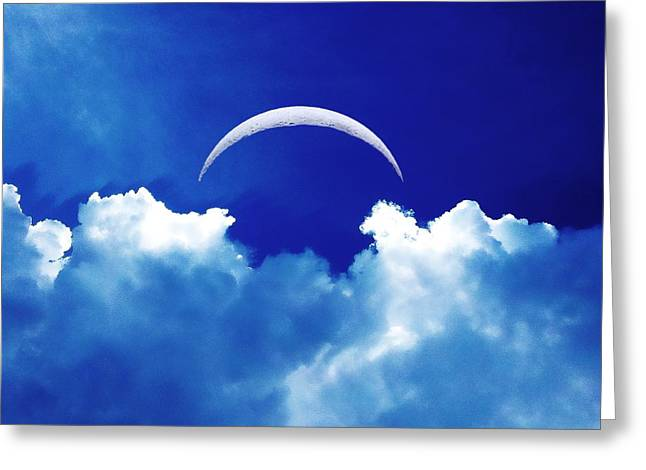 Moon Cloud Greeting Card