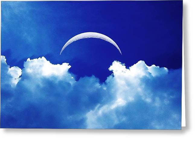 Moon Cloud Greeting Card