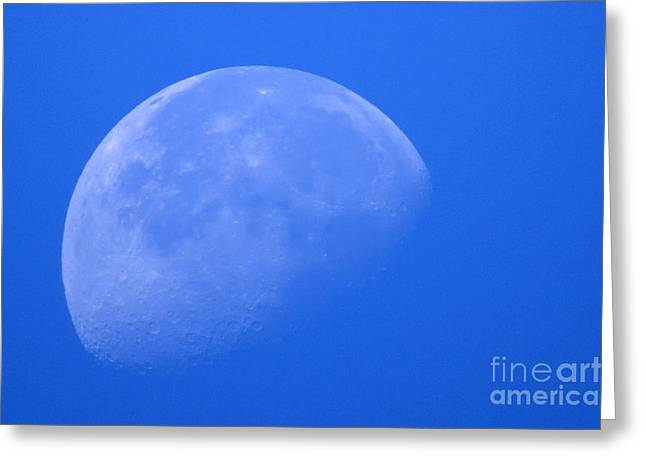 Moon Craters Greeting Card by Mary Mikawoz