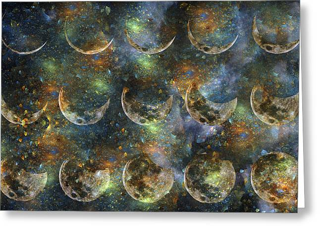 Moon Greeting Card by Betsy Knapp