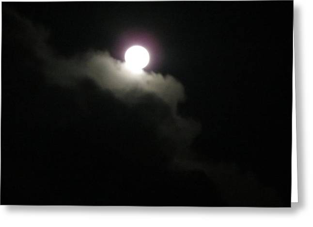 Moon Escape Greeting Card by Fortunate Findings Shirley Dickerson