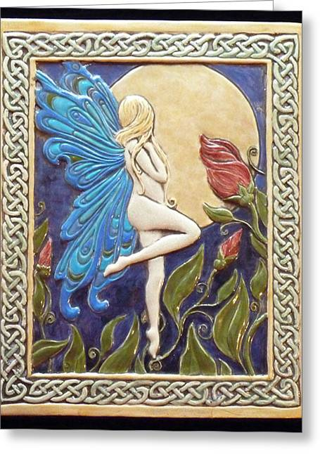 Moon Fairy Greeting Card by Shannon Gresham