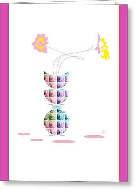 Moon Flower 2 Greeting Card