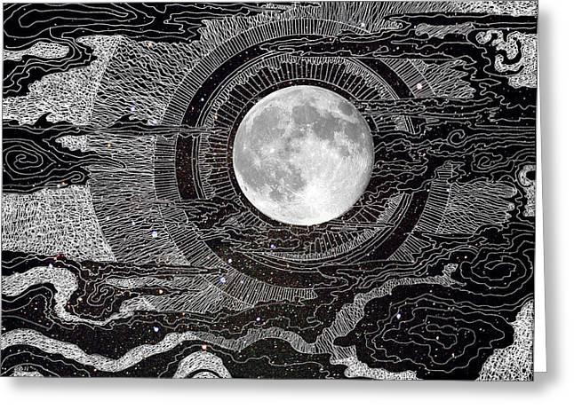 Moon Glow Greeting Card by Brenda Erickson