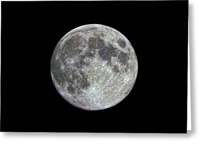 Moon Hdr Greeting Card by Greg Reed