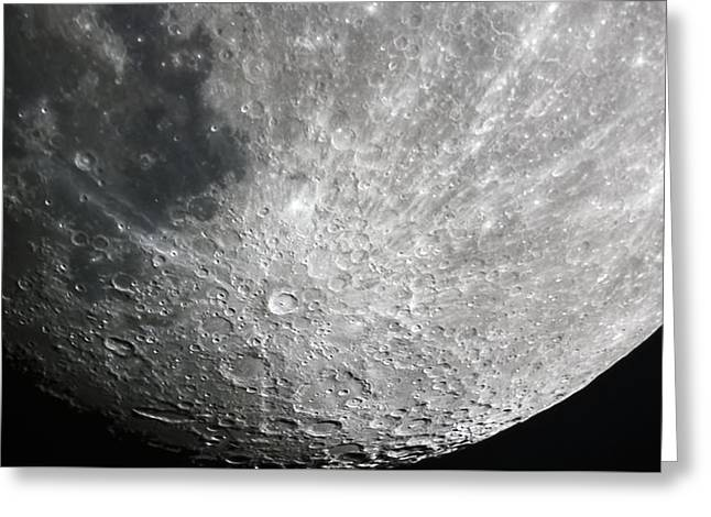 Moon Hi Contrast Greeting Card by Greg Reed