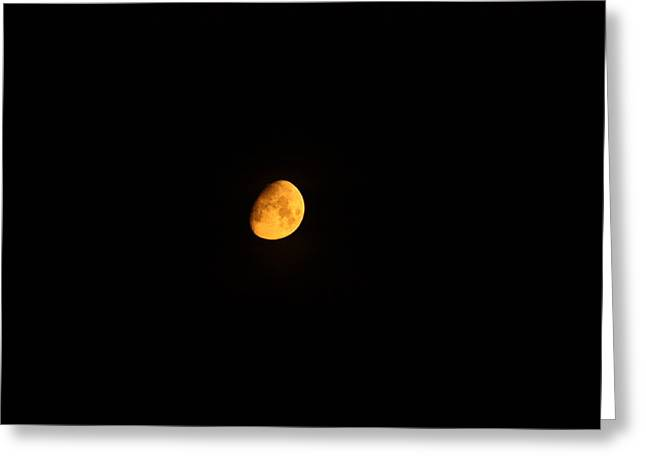 Moon In Orange  Greeting Card