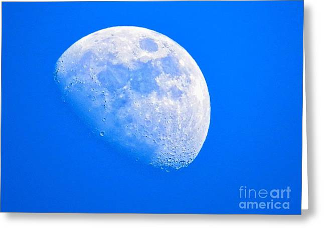 Moon In The Blue Sky. Greeting Card