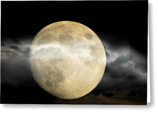 Moon In The Fog Greeting Card by Michelle Frizzell-Thompson