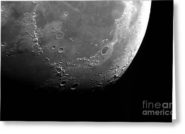 Moon Greeting Card by John Chumack